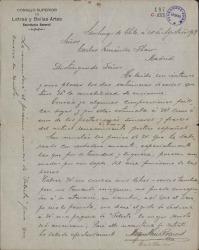 Cartas de Miguel Luis Rocuant a Carlos Fernández Shaw.