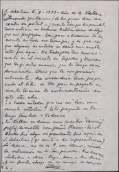 Tarjeta postal de Jesús Guridi a Guillermo Fernández-Shaw, pidiéndole que le prepare la obra prometida, para empezar a trabajar en la música.