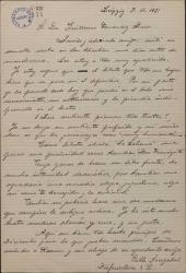 Carta de Pablo Sorozábal a Guillermo Fernández-Shaw, exponiéndole sus preferencias en relación con un un proyecto teatral común.