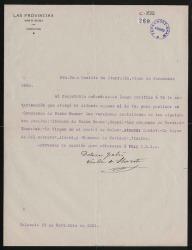 Cartas de Dolores Falcó, viuda de Teodoro Llorente, a Cecilia Iturralde, viuda de Carlos Fernández Shaw.