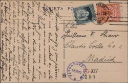 Tarjeta postal de Pablo Sorozábal a Guillermo Fernández-Shaw, anunciándole que estará en Barcelona hasta el día de su boda.
