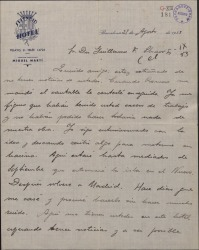 Carta de Pablo Sorozábal a Guillermo Fernández-Shaw, expresando su extrañeza por no tener noticias suyas.