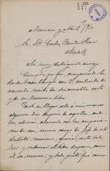 Cartas de Ricardo Sánchez Madrigal a Carlos Fernández Shaw.