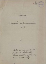 Cartas de Federico Balart a Carlos Fernández Shaw.