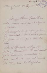 Cartas de José Velarde a Carlos Fernández Shaw.
