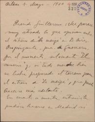 Carta de Jesús Guridi a Guillermo Fernández-Shaw, hablando de posibles reposiciones de las obras de ambos en distintos lugares.
