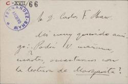 Cartas de Manuel Reina a Carlos Fernández Shaw.