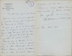 Cartas de Marcos Rafael Blanco Belmonte a Carlos Fernández Shaw y Cecilia Iturralde, su esposa.