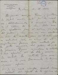 Carta de Rafael Millán a Guillermo Fernández-Shaw y Federico Romero, comentando el fracaso de una obra y poniendo algunos reparos a un contrato.