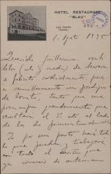 """Carta de Rafael Millán a Guillermo Fernández-Shaw, con diversos comentarios sobre la parte que ha recibido de la obra """"La Severa""""."""