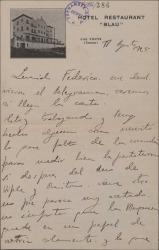 """Cartas de Rafael Millán a Federico Romero, con comentarios sobre su trabajo en """"La Severa"""", obra en la que colaboran."""