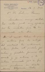 Cartas de Rafael Millán a Federico Romero, sobre varios asuntos teatrales.