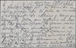 Tarjeta postal de Jesús Romo a Guillermo y Rafael Fernández-Shaw, dando cuenta del éxito de su gira teatral desde Cádiz.