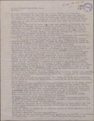 Carta de Ernesto Lecuona a Guillermo Fernández-Shaw, hablando de su próximo viaje a España e informándole detalladamente de intérpretes y actividades teatrales en América.