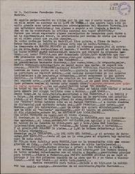 Carta de Ernesto Lecuona a Guillermo Fernández-Shaw, informándole del éxito alcanzado en La Habana por la compañía de Marcos Redondo.