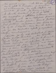 Carta de Ernesto Lecuona a Guillermo Fernández-Shaw, con varios comentarios teatrales.