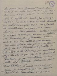 Carta de Ernesto Lecuona a Guillermo Fernández-Shaw, lamentando no poder aceptar una invitación de éste, y hablándole de su actividad teatral en Barcelona.