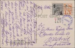 Tarjeta postal de Ernesto Lecuona a Guillermo Fernández-Shaw, anunciándole el envío de una obra.