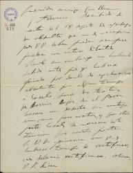 """Carta de Amadeo Vives a Guillermo Fernández-Shaw y Federico Romero, sobre asuntos teatrales y traducciones de """"Doña Francisquita""""."""