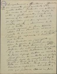 """Carta de Amadeo Vives a Guillermo Fernández-Shaw y Federico Romero, comunicándoles el resultado de su viaje a Paris, para ocuparse de la versión francesa de """"Doña Francisquita""""."""