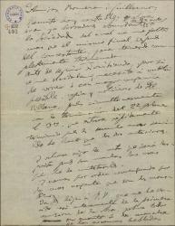 """Carta de Amadeo Vives a Federico Romero y Guillermo Fernández-Shaw, tratando temas de los cantables de """"La villana"""" y otros asuntos teatrales, estos de tipo económico."""