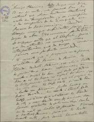 """Carta de Amadeo Vives a Federico Romero, aprobando el reparto propuesto para interpretar """"La villana"""" y tratando de otros asuntos."""
