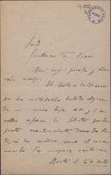 Carta de Conrado del Campo a Guillermo Fernández-Shaw, felicitándole por el nacimiento de un nuevo hijo y acusando recibo del primer acto de una obra.