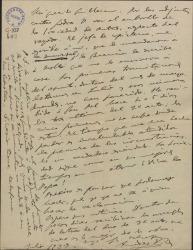 """Carta de Amadeo Vives a Guillermo Fernández-Shaw, comentando ciertas dificultades de la Sociedad de Autores Españoles respecto al rayado de """"La villana""""."""