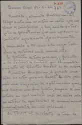 """Carta de Francisco Balaguer a Guillermo Fernández-Shaw, felicitándole por su nombramiento como Director General de la Sociedad General de Autores de España y hablando sobre su """"Ballet""""."""