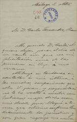 Cartas de Pedro de Alfaro a Carlos Fernández Shaw.