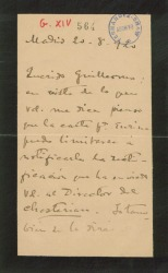 """Carta de Manuel de Falla a Guillermo Fernández-Shaw, con alusiones a una carta de Joaquín Turina y sobre un próximo estreno de """"La vida breve""""."""