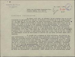 Carta de Germán de Falla a Guillermo Fernández-Shaw, hablándole del nuevo reglamento de la Sociedad General de Autores de España y sus consecuencias para ellos y de otros temas relacionados con contratos sobre sus obras.