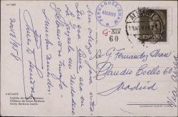 Tarjeta postal de Ernesto Lecuona a Guillermo Fernández-Shaw, deseándole un gran triunfo teatral.