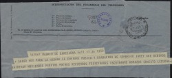 Telegrama de Ernesto Lecuona a Guillermo Fernández-Shaw, comunicándole su salida para La Habana.