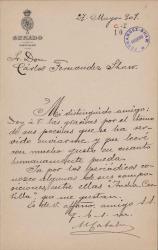 Cartas de Mariano Catalina a Carlos Fernández Shaw.