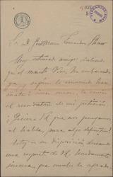 Carta de Manuél Fernández Alberdi a Guillermo Fernández-Shaw, recordándole una petición.
