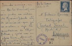 Tarjeta postal de Leopoldo Magenti a Guillermo Fernández-Shaw y Federico Romero enviándoles un saludo.