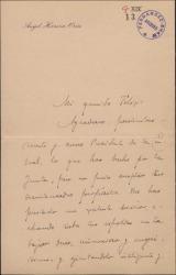 Carta de Ángel Herrera Oria a Félix, elogiando ciertos servicios prestados por éste.