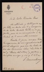 Cartas de Francisco Commeleran a Carlos Fernández Shaw.