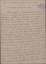 Carta de Manuel García Morente a Guillermo Fernández-Shaw, hablando sobre el balance espiritual de la Guerra Civil y sobre el camino sacerdotal que el ha iniciado.
