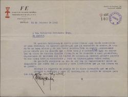 Carta de Antonio Rodríguez de León a Guillermo Fernández-Shaw, presentándole a un músico que desea colaborar con él.