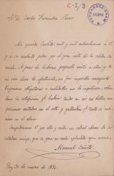 Cartas de Manuel Cañete a Carlos Fernández Shaw.