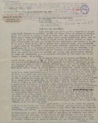 Carta de Braulio Díaz Sal a Guillermo Fernández-Shaw, hablando de temas teatrales, de cine y preguntándole su opinión sobre un borrador de una comedia que le dejó hace tiempo.