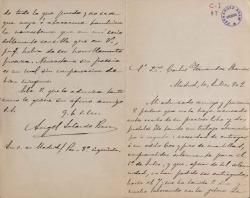 Cartas de Ángel Salcedo Ruiz a Carlos Fernández Shaw.