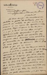 """Carta de Joan Costa i Deu a Guillermo Fernández-Shaw, comentando las críticas publicadas en la prensa catalana sobre """"La sonata de Grieg""""."""