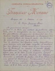 Cartas de Francisco Morano a Carlos Fernández Shaw.