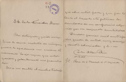 Cartas de Carlos Allen-Perkins a Carlos Fernández Shaw.