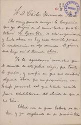 Cartas de José Mesejo a Carlos Fernández Shaw.