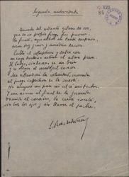 Composiciones poéticas autógrafas de Enrique Ruiz de la Serna.