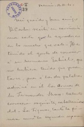 Cartas de Ricardo Simó-Raso a Carlos Fernández Shaw.